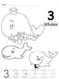 Ocean animals number trace worksheet | Crafts and Worksheets for ...
