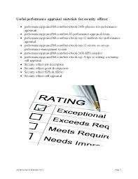 Security Guard Checklist Template Janeefraser Com