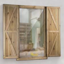wood wall mirrors. Crystal Art Gallery Shuttered Wall Mirror With Rustic Wooden Frame Wood Mirrors R