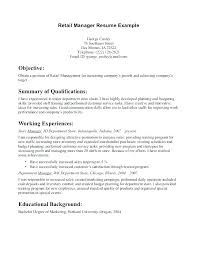 Resume Objective For Retail Wonderful 108 Objectives For Retail Resumes Skill Resume Skills Free Samples