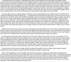 the great gatsby essay american dream corruption of the american dream in the great gatsby essay