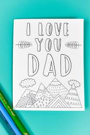 Template in color or black & white. Printable Father S Day Card Gift Tags Bonus Coloring Page