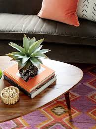 brown velvet sofa with orange velvet