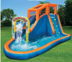 Banzai Cannonball Splash Backyard Inflatable Water Slide Reviews Water Slides Backyard