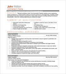 Construction Engineering Sample Resume 8 Civil Site Engineer Samples
