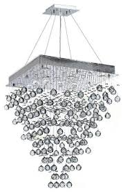 icicle 8 light chrome finish raindrop crystal chandelier 24 square