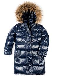 Appaman Long Down Coat Sparkle Navy Size 5 Last One