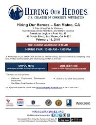 Hiring Our Heroes - San Mateo, CA February 18, 2015 8:30 -