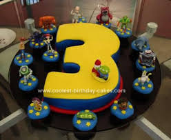 Cool Homemade Toy Story 3rd Birthday Cake