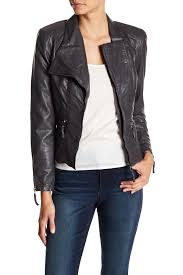 blanknyc denim faux leather ed moto jacket