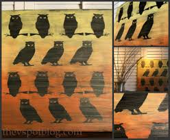 Ombre Owl Artwork (from Dollar Store Halloween decor)