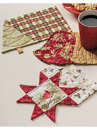 Mug Rug Patterns Inspiration Christmas Mug Rug Set Pattern