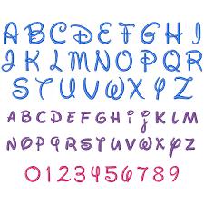 Disney Font Disney Font Embroidery Font