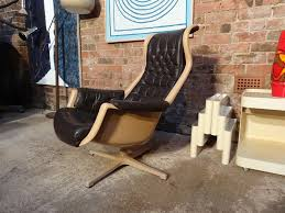 1960 s space age swedish galaxy lounge chair dux designed by alf svensson yngvar sandström space unusual quirky black 60s wow design loungechair