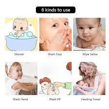 Herbabe 5pcs Baby Face Towel Set <b>6 Layers 100</b>% <b>Cotton</b> Bath ...