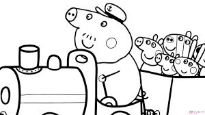 55 Mẫu tranh tô màu heo Peppa Pig hoạt hình ngộ nghĩnh đáng yêu