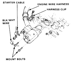 how to remove a 88 honda crx si starter? Wiring Harness Diagram at 2005 Honda Starter And Wiring Harness