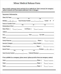 Printable Medical Release Form For Children Inspiration 48 Sample Medical Release Forms For Minor Sample Templates