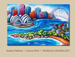 ney harbour stretched canvas print 76x50cm