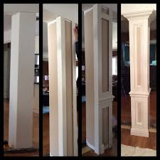 Column Molding Ideas Square Columns Interior Wood Columns Decorative Columns
