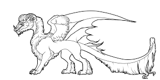 dragon pics to color. Perfect Pics Arctic Dragon  Color Lineart By Javen In Pics To U