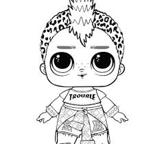 Stunning Design Lol Dolls Coloring Pages Tots Page 23 Lol Surprise