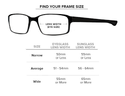 Eyeglass Frame Size Chart Size Chart Proshopify Theme