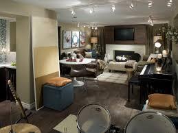 Cozy Neutral Basement Makeover HGTV - Hgtv basement finished basement floor