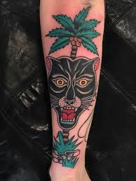 Palm Tree Panther By Jonas Nyberg At Kosmos Tattoo Sweden Tattoos