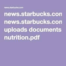 news starbucks uploads doents nutrition pdf