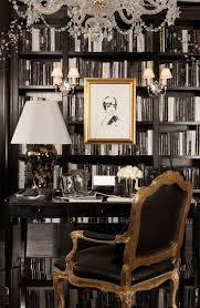 Ralph lauren home office Vintage Ralph Lauren Home Black And White Study Finds Allure In Gold Touches From The Black Gable Table Lamp And The Indian Cove Lodge Fauteuil Pinterest Ralph Lauren Home Black And White Study Finds Allure In Gold
