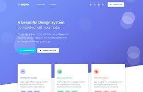 Bootstrap Landing Page Design Argon Design System Free Design System For Bootstrap 4