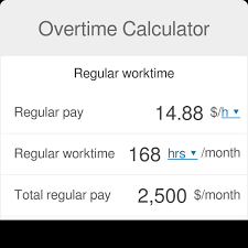 Time And Pay Calculator Overtime Calculator Omni