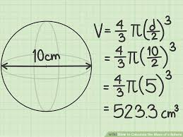 image titled calculate the mass of a sphere step 3