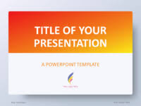 Blue And Orange Powerpoint Template Free Orange Powerpoint Templates Presentationgo Com