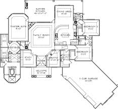 54 best craftsman home plans images on pinterest house floor L Shaped Home Floor Plans grotto for a man cave florida style house plans 2915 square foot home, 1 story, 3 bedroom and 2 3 bath, 3 garage stalls by monster house plans plan l shaped house floor plans