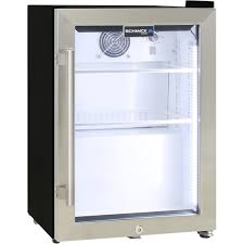 schmick mini glass door shallow bar fridge led strip lights unit has white interior