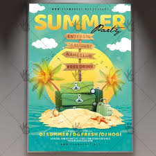 Summer Travel Party Premium Flyer Psd Template