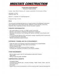 Sample Resume For Construction Superintendent Resume For Your