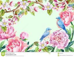 images of flowers and birds. Wonderful And Vintage Card With Flowers And Birds Spring Background On Images Of Flowers And Birds R
