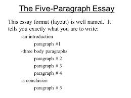 3 5 Essay Format Planning A Five Paragraph Essay Part A The Introduction