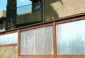 metal fence wood framed corr corrugated