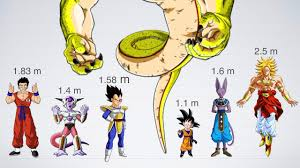 Size Comparison Of Dragon Ball Characters 1