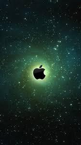 Apple Logo On Galaxy Background IPhone 5 Wallpaper