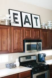 Small Picture Best 25 Above cabinet decor ideas on Pinterest Above kitchen