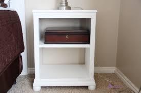 rustic white nightstand. Katie Nightstand Open Shelf Rustic White W