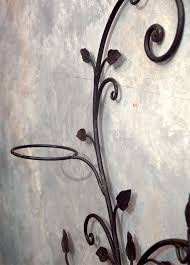 decorative wrought iron wall planter