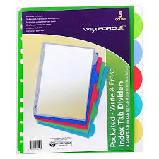 Wexford Index Tab Dividers With Pockets Walgreens