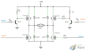 motor is my mosfet h bridge design correct? electrical H-shape Bridges in the World Circuit Diagram H Bridge Motor Driver #13