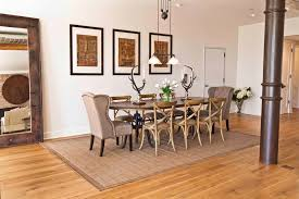 chairs exposed pipe diy dining chair covers dining room industrial with antler candleholders floor mirror floor mirror